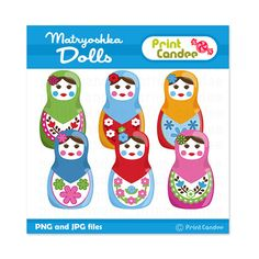 Matryoshka Dolls   Digital Clip Art  Personal and by printcandee, $3.50