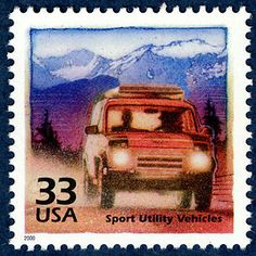 U.S 1990/'s MINT CONDITION SPORT UTILITY VEHICLES SUV/'s POSTAGE STAMP