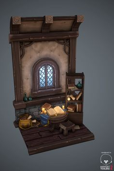 Medieval interior house