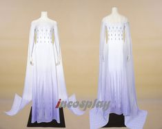 Adult Frozen 2 White Elsa Dress Cosplay Costume for Adult 2019 - Custom Size Elsa Cosplay, Cosplay Dress, Costume Dress, Cosplay Costumes, Cosplay Outfits, Frozen Outfits, Disney Outfits, Frozen Elsa Dress, Frozen Costume