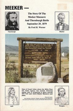 Meeker  Story of the Meeker Massacre and Thornburgh Battle by Fred Werner 1985