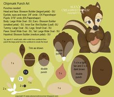 Alexs Creative Corner: Chipmunk Punch Art Instructions