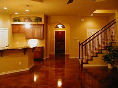 Stained Concrete Floors...wow Loves this...Lm