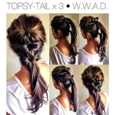 "Topsy Tail X 3. My new ""ponytail"""