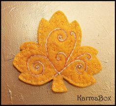 Goldenrod Felt Autumn Leaf
