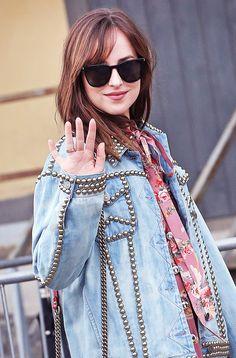 Dakota Johnson leaving the Gucci fashion show in Milan - 21 Sep 2016