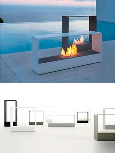 Outside! On the terrace... Llar Fireplace by Borja Garcia | moddea