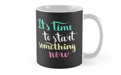 It is time to start something new. Colorful text on dark background. by kakapostudio