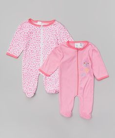 This Pink Leopard Sleep & Play Footie Set - Infant is perfect! #zulilyfinds