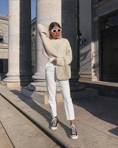 Women Jeans Outfit Dusty Pink Trousers Casual Sweatpants Outfit Skirt Trousers Boys Navy Chinos Ladies Patterned Trousers Jeans And Heels Outfit – gladiolusrlily Look Fashion, Winter Fashion, Girl Fashion, Fashion Outfits, 80s Fashion, Fashion Tips, Fashion Trends, Trendy Outfits, Fall Outfits