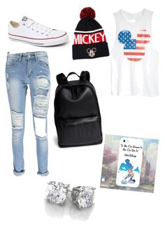 """""""fourth of july swag"""" by fasionrebel ❤ liked on Polyvore featuring dELiA*s, Boohoo, Converse, 3.1 Phillip Lim and Forever 21"""