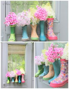 How To Make Super Cute Rain Boot Planters - Pondic