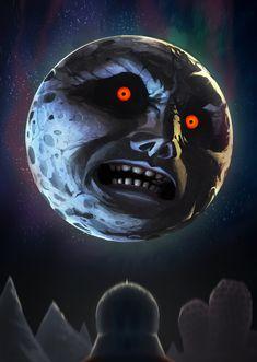 The Legend of Zelda: Majora's Mask, The Moon / Majoras Mask: The Moon by MaxGrecke on deviantART