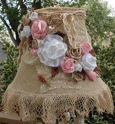 Burlap & Crochet Lamp Shade