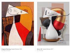 Омар Акиль представил серию трехмерных интерпретаций картин Пабло Пикассо