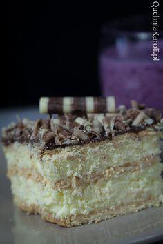 Szybki sernik gotowany. Polish Desserts, Cheesecakes, Tiramisu, Pudding, Banana, Eat, Ethnic Recipes, Food, Kitchens