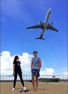 Watching the Planes at Mai Khao Beach (Phuket Airport Beach) Phuket Airport, Planes, Beach, Airplanes, Seaside, Aircraft, Plane, Airplane