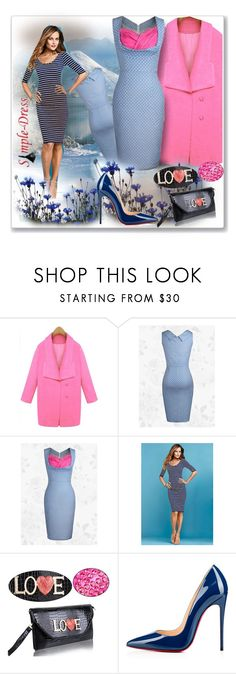"""www.simple-dress.com 4"" by ane-twist ❤ liked on Polyvore featuring Alloy Apparel, Christian Louboutin, modern and simpledress"