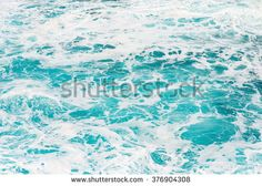 Beautiful turquoise coloured ocean water with sea foam suitable as background texture pattern. Turquoise Color, Sea Foam, Textures Patterns, Textured Background, Waves, Stock Photos, Clipboard, Abstract, Beach House