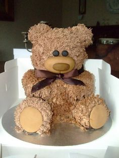 my first teddy cake Cake by delightful