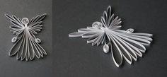 Quilled Silver Angel by ebony-squirrel.deviantart.com on @DeviantArt