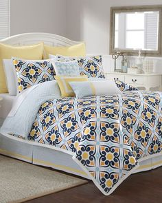 Savannah+Tile-Print+Bedding+by+Southern+Tide+at+Neiman+Marcus.