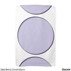 Lilac Dot Kitchen Towel