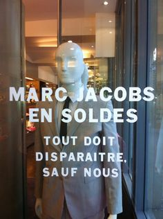 vitrinemarcjacobs / marc jacobs window for Paris sales ... all should disappear except us !