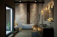 Bad mit luxuriösem Spa Stil Stil-Fabrik