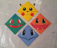 Pokemon Corner Bookmarks. by CornerBookMarks on Etsy
