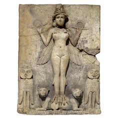 The 'Queen of the Night' Relief -   Old Babylonian, 1800-1750 BC From southern Iraq