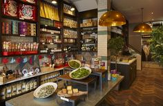 Wildwood Kitchen, a trendy bar and restaurant is located in the old entrance to the Clayton Square Shopping Centre, situated minutes away . Uk Retail, Food Retail, Red Restaurant, Restaurant Design, Home Design, Interior Design, Wildwood Kitchen, Liverpool Uk, Trendy Bar