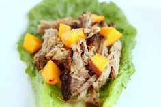 Garlic Roasted Pork Shoulder Lettuce Wraps recipe shared by Kim from Recipes n Food.