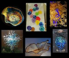 Mesmerizing blown glass chandeliers, glass urns for ashes, glass wall art, & glass vessel sinks from Internationally recognized glass artist ~White Elk Glass Wall Art, Flower Wall Art, Wall Art, Wall Sculptures, Hand Blown, Painting, Sculpture, Art