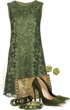 """Emerald Chic"" by flowerchild805 ❤"