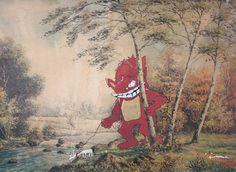 I need some monster artwork!  Pet Unicorn 8.5 x 11 Art Print. $20.00, via Etsy.