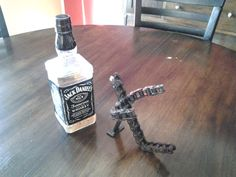 Motorcycle Chain Jack Daniels Holder by MadGarageCustoms on Etsy, $20.00
