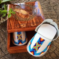 "Something special. Native Delight Beaded Moccasins. ""Lil Toes"" Heirloom Collection"