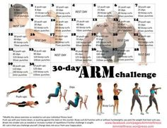30 day legs challenge calendar   30 Day Arm Challenge: Push-Ups, Tricep Dips, Bicep Curls and Punches