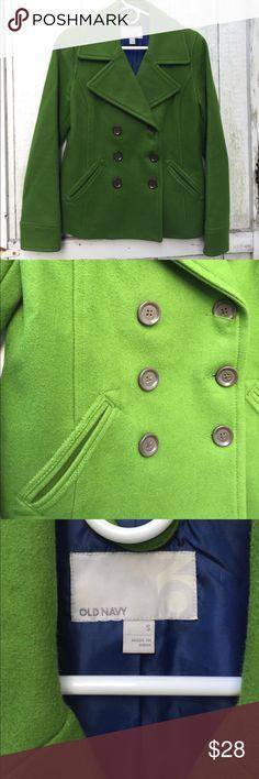 Old Navy Pea Coat Old Navy green pea coat. Worn a handful of times. Jackets & Coats Pea Coats