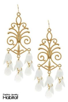 Empress Chandelier Earrings - $14.00 at FashionJewelryHabitat.com - #FashionJewelryHabitat #FashionHabitat