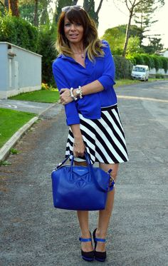royal blue and stripes
