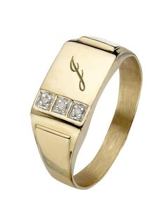 Gem Stone King Solid Yellow Gold Men's White Diamond Wedding Anniversary Ring (Available – Jewelry & Gifts Mens Gold Rings, Rings For Men, Jewelry Gifts, Gold Jewelry, Jewellery Box, Gents Ring, Signet Ring, Gold Bands, Ring Designs