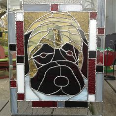 Custom Pet Stained Glass by Kim - Check Pawzed in Glass out on Facebook!