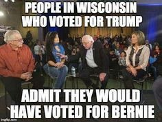 After brief discussion with Republican voters, they saw Bernie's point of view about working class vs top 1%.