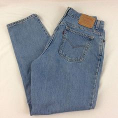 Vintage Levis 550 High Waist Mom Jeans Relaxed Fit Tapered Leg Womens 16 M #Levis #Everyday