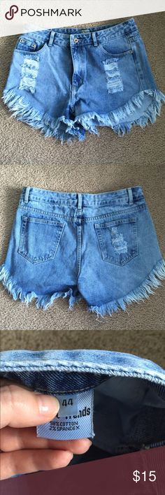 NWOT Boho Shorts Never worn! Cute and stylish. Waist is 44in. I'm a size 10 and it fits.  Shorts Jean Shorts