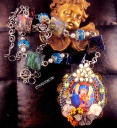 Catholic Virgin Mary OL Perpetual Help Saints Religious Medals Handmade necklace #Handmade #Cameo