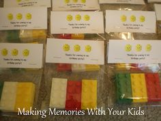 Lego Birthday Party: The Goody Bags