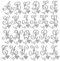 patterns for piping royal icing alphabet Piping Templates, Piping Patterns, Royal Icing Templates, Royal Icing Transfers, Embroidery Alphabet, Embroidery Monogram, Embroidery Stitches, Hand Embroidery, Embroidery Designs